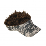 Flair Hair Camouflage Visor Brown Hair