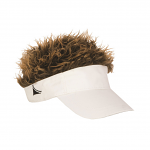 Flair Hair White Visor Brown Hair